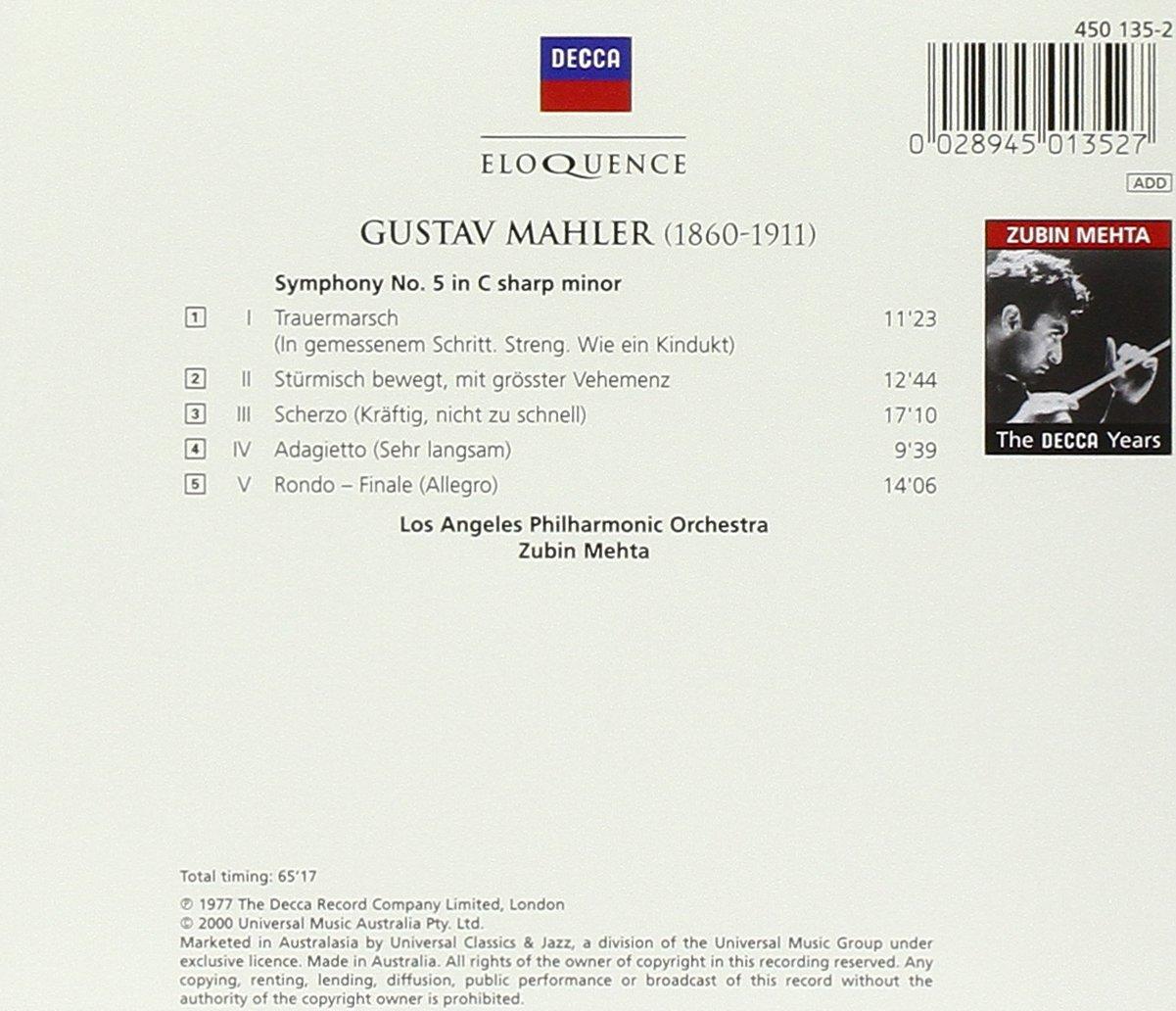 Mahler: Symphony No. 5 by Eloquence Australia / Decca