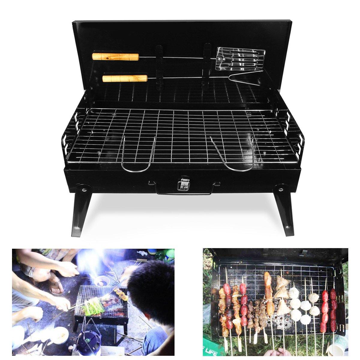 LaDicha Faltung Portable Bbq Grill Grill Mit Werkzeugen Holzkohle Camping Garten Outdoor Cooking Ware