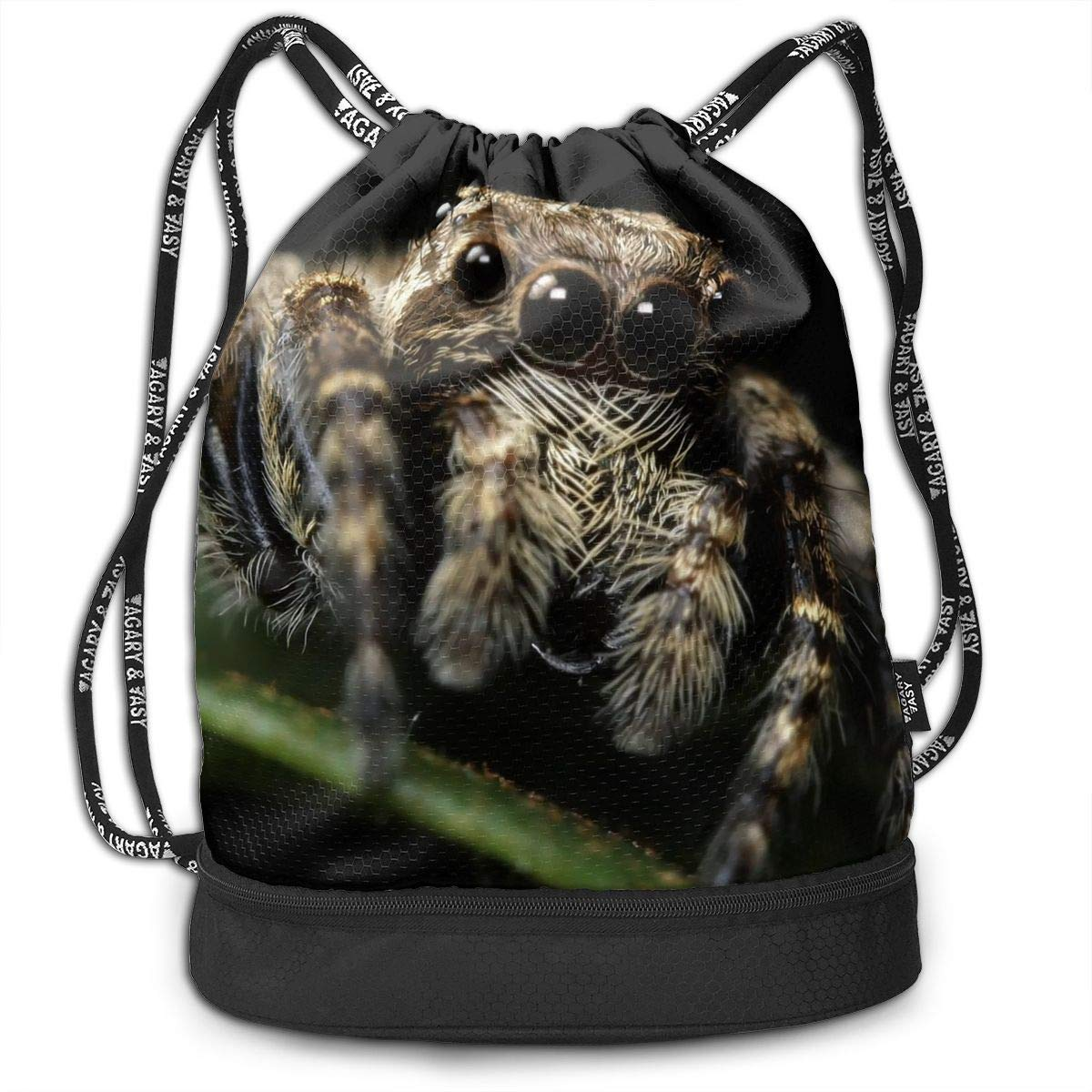 Jxrodekz Multifunctional Bundle Backpack - Adorable ider Insect Illustration 3D Print Drawstring Backpack - Portable Shoulder Bags Travel ort Gym Bag - Yoga Runner ypack Shoe Bags