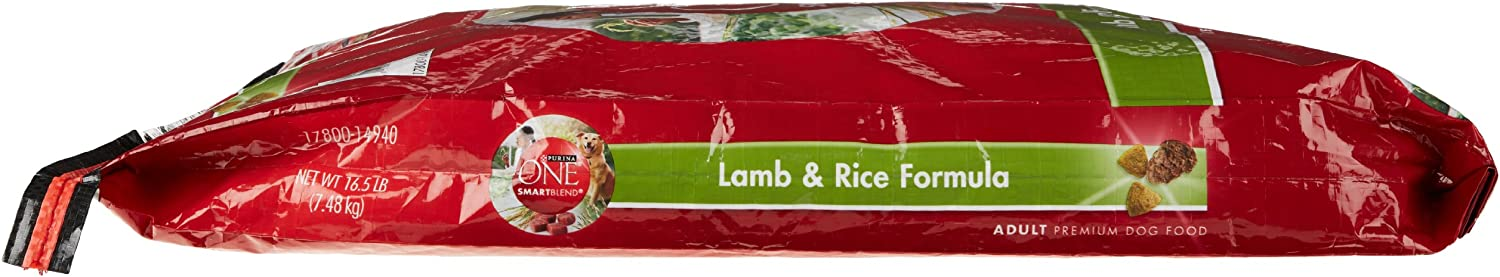Purina ONE Dog Smartblend, Lamb & Rice Formula, Adult 16.5 lb (Packaging may vary)