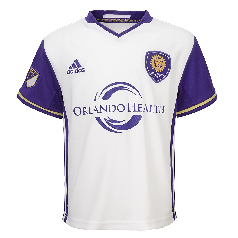 e1decb1dd0e Amazon.com   MLS Orlando City SC Boy s Secondary Replica Jersey ...