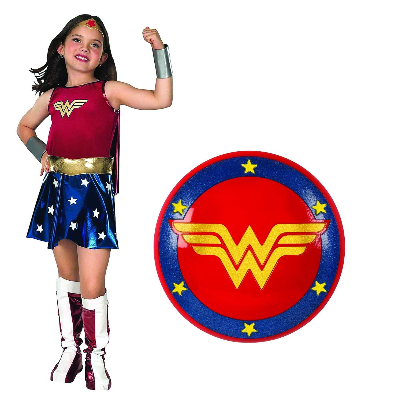 Rubies スーパーDCヒーローズ ワンダーウーマン 子供用コスチュームとシールド L Costume W/ Shield B07SBFK2V3