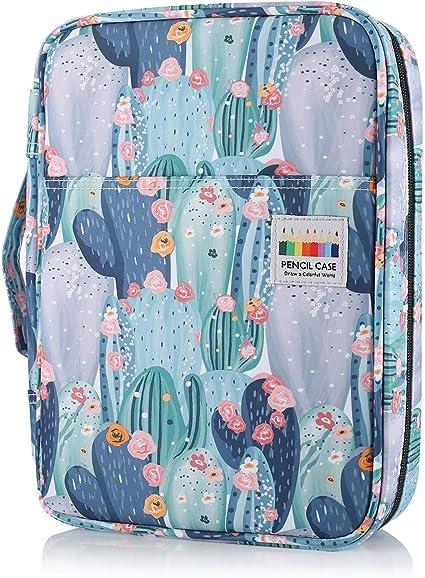 Shulaner 220 Estuche Multifuncional Lápices Kawaii Cactus Estuches Escolar Grande de cremalleras Pencil Case para lapices colores o bolígrafos para estudiantes adultos Artista - Cactus: Amazon.es: Oficina y papelería