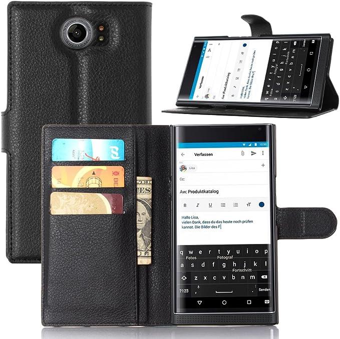 Funda Blackberry Priv,Vikoo(7 colores)Tapa de Cuero de La PU Case ...