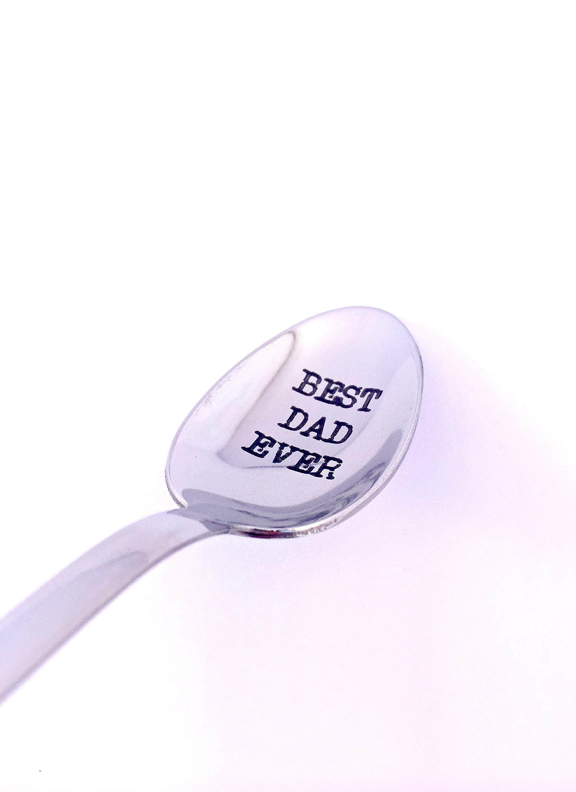 "Best Dad Ever Engraved Spoon by Weenca-Laser Engraved ""Best Dad Ever"" Stainless Steel Spoon-Dad Gifts – Father Day Gifts by Weenca (Image #6)"