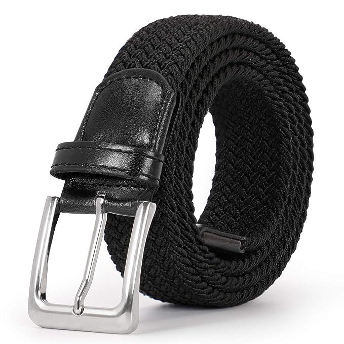 Amazon.com: JASGOOD Cinturón elástico trenzado para hombre ...