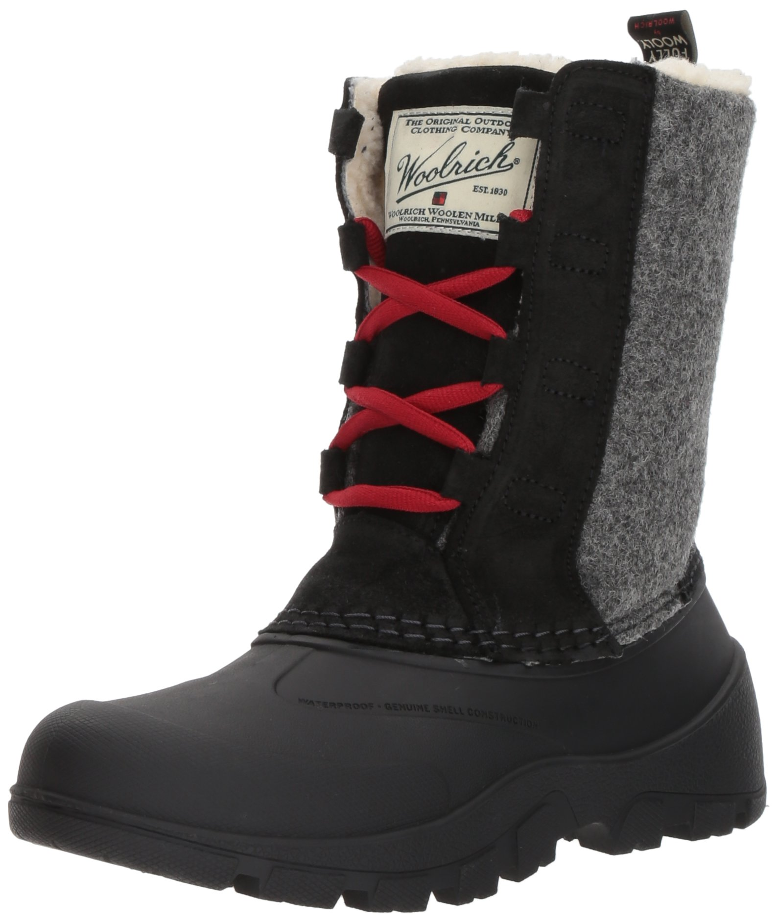 Woolrich Women's Fw Tundracat Snow Boot, Black, 10 M US