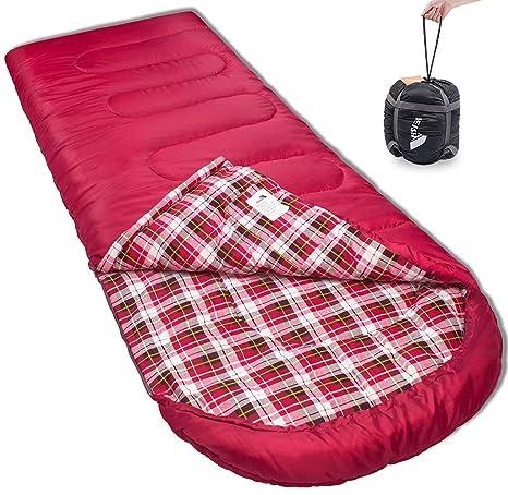Reisen Saco de Dormir climas cálidos y fríos, 0 Grados Celsius, Ligero para Adultos