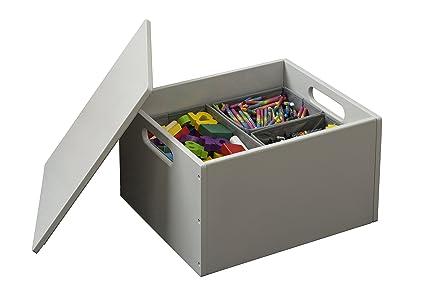Tidy Books - Caja de juguetes Sorting Box Original en gris claro - Ideal para almacenar