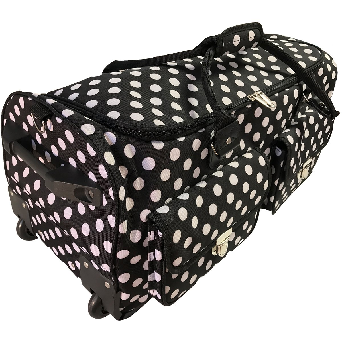 CGull 10-0014 Rolling Craft Machine & Supply Bag 2.0, Black with White by CGull