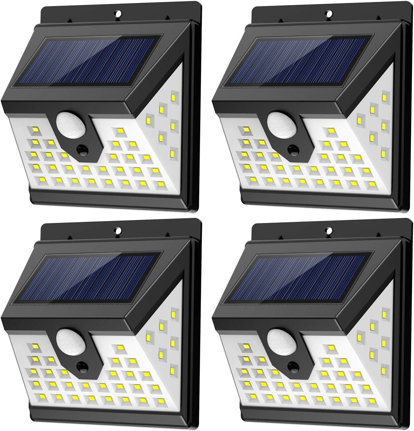 Details about  /24LED Diamond Solar Power Lights PIR Motion Sensor Waterproof Wall Spotligh