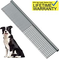 Pet Steel Comb, Pet Grooming Tool for Dog 7 1/2""