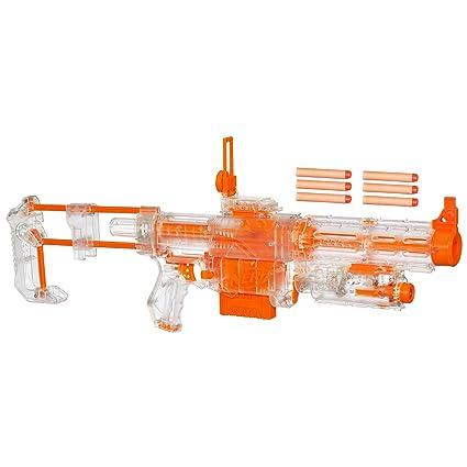 HASBRO NERF N-STRIKE RECON CS-6 DART GUN BLASTER W/BARREL AND
