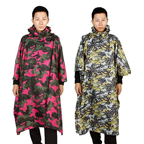 8bfc94d0df8c7 Camouflage Rain Coat For Men Outdoor Waterproof Multi-Funvtion Military  Camo Raincoat Jacket Cover Rainwear