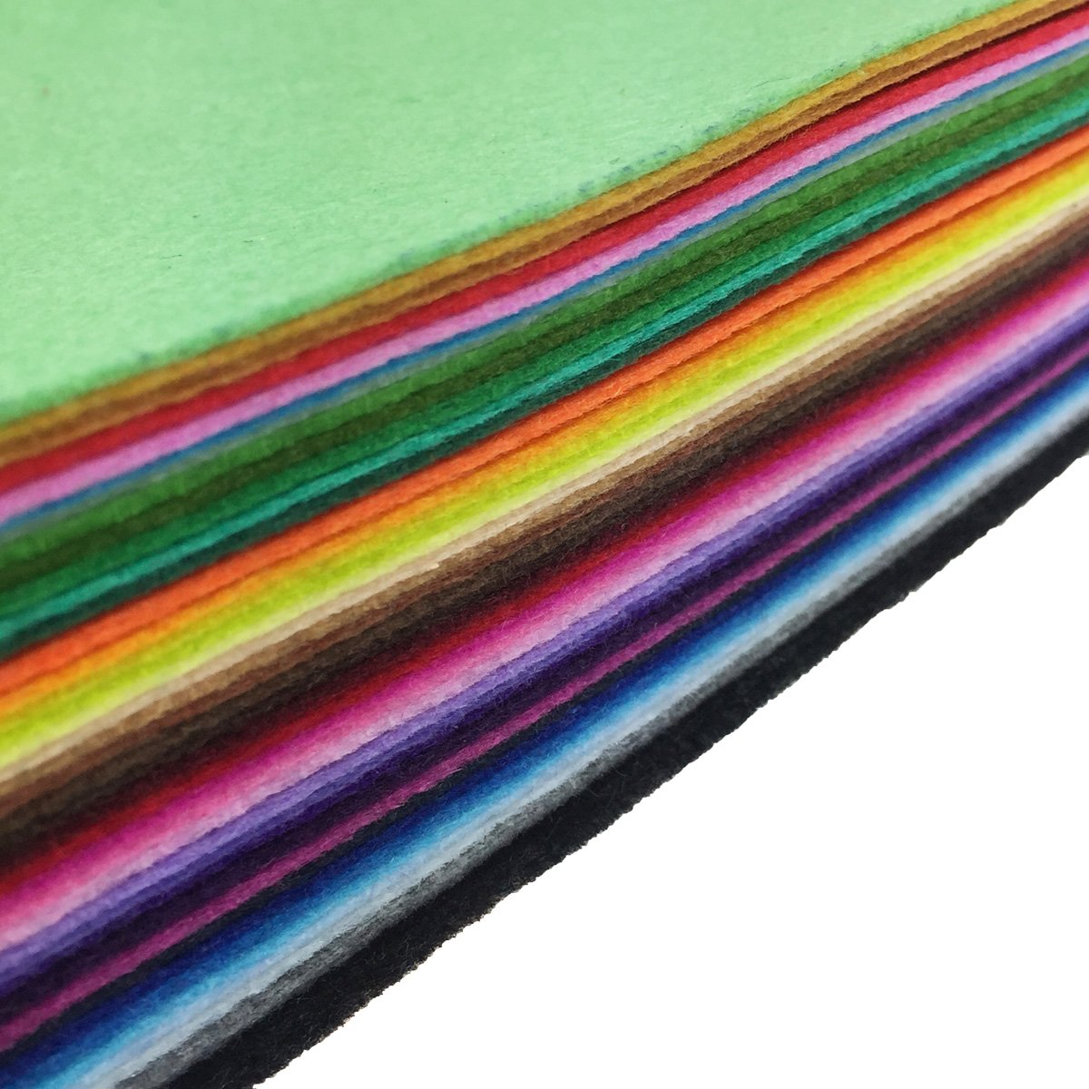 flic-flac 42pcs 8 x 12 inches (20cm30cm) 42 Colors for Choice A4 Felt Fabric Sheet Assorted Color Felt Pack DIY Craft Patchwork by flic-flac (Image #2)