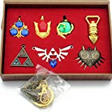 The Legend of Zelda Twilight Princess & Hylian Shield & Master Sword finest collection sets keychain/necklace/jewelry series