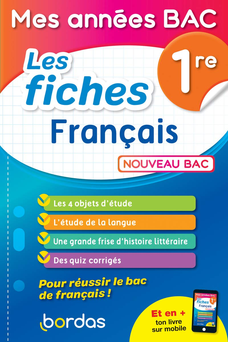 Mes Annees Bac Fiches Francais 1re Amazon Fr Mathieu