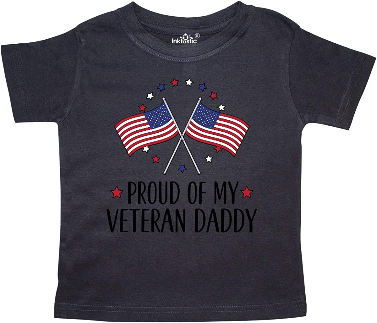 inktastic Military Veteran Daddy Proud Son Daughter Toddler T-Shirt