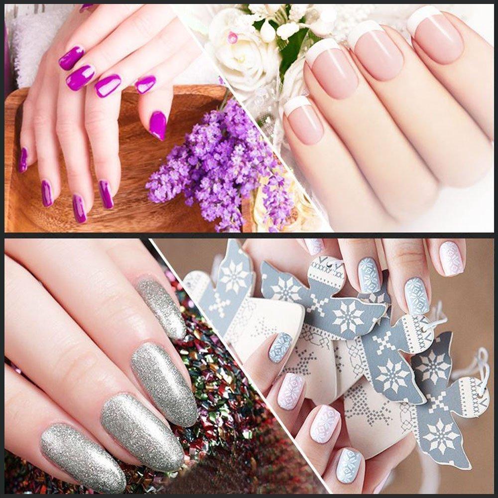 Lote de 10 piezas de plástico acrílico para retirar gel de uñas con facilidad: Amazon.es: Belleza