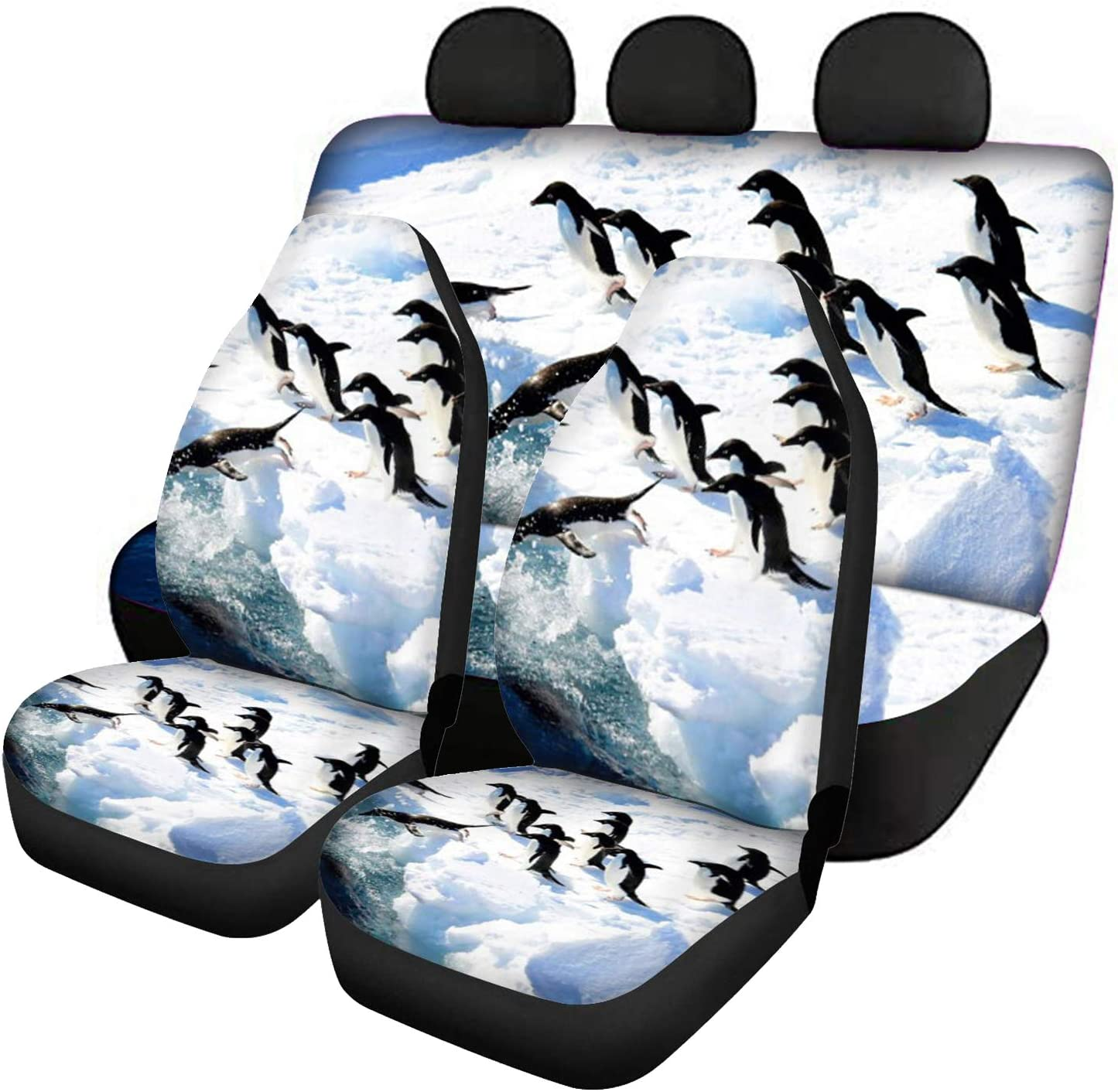 Xhuibop Penguin Ranking Fees free!! TOP15 Front Car Seat Covers Ba and Rear Backrest Cover