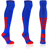 Over the Knee Compression Socks 15-20 mmHg Womens & Mens Thigh High Stockings by X31 Sports 1 Pair