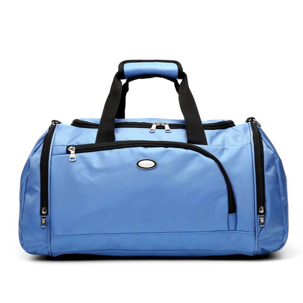 Large capacity shoulder bag fitness business trip short luggage bag-Blue