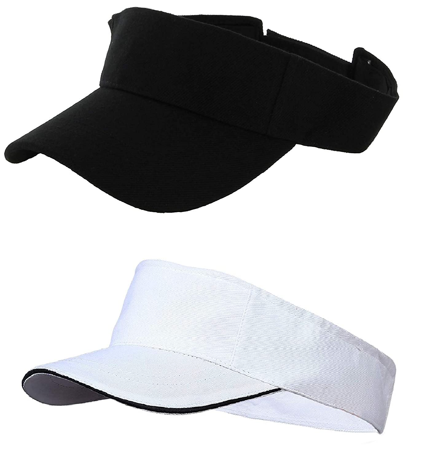 5db0617b Magic Attitude Women's Tennis Visor Sunshade Cap Pack of 2 Black & White:  Amazon.in: Clothing & Accessories