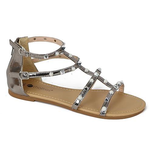 561a036f1 Chatties Women s Gladiator Pearl Sandals (5-6 B(M) US