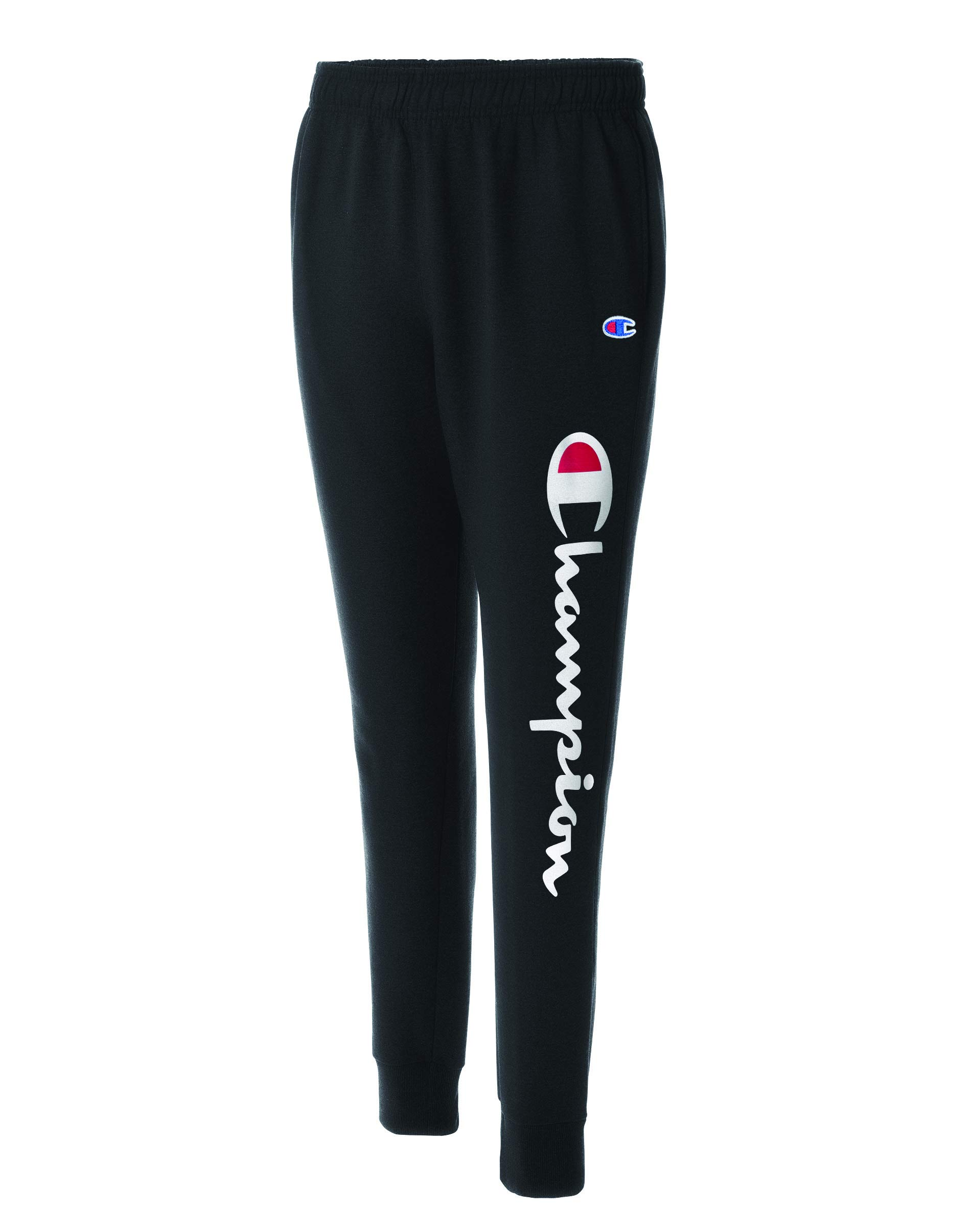 Champion Men's Graphic Powerblend Fleece Jogger, Black, Medium by Champion