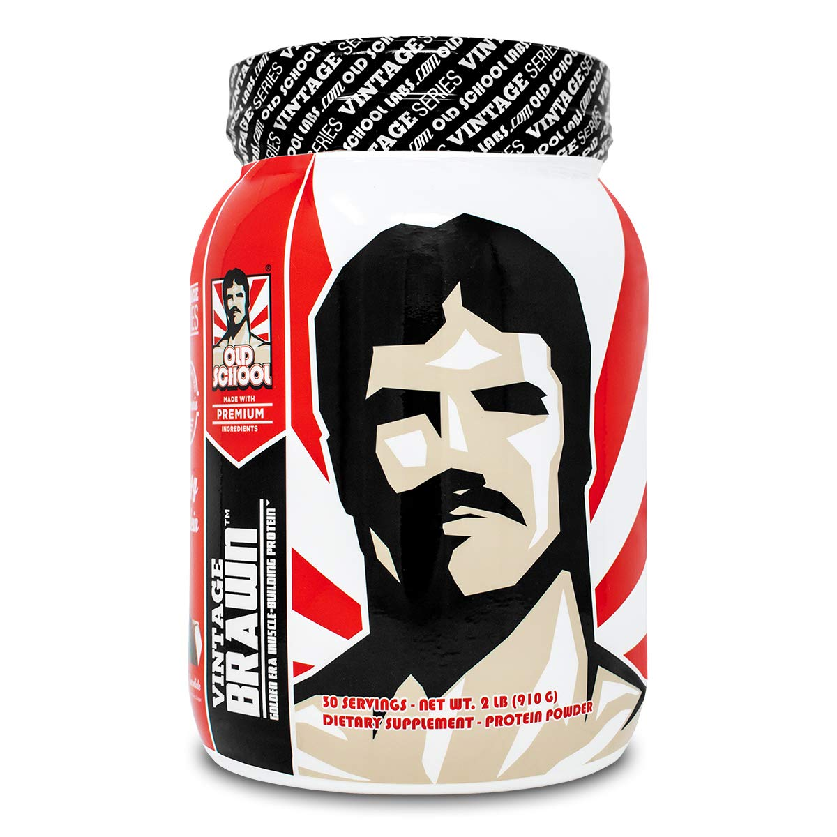 VINTAGE BRAWN Protein - Muscle-Building Protein Powder - The First Triple Isolate of Premium Egg, Milk (Whey and Casein), and Beef Protein - Rich Chocolate Flavor with Zero Sugars and No Artificials by Old School Labs