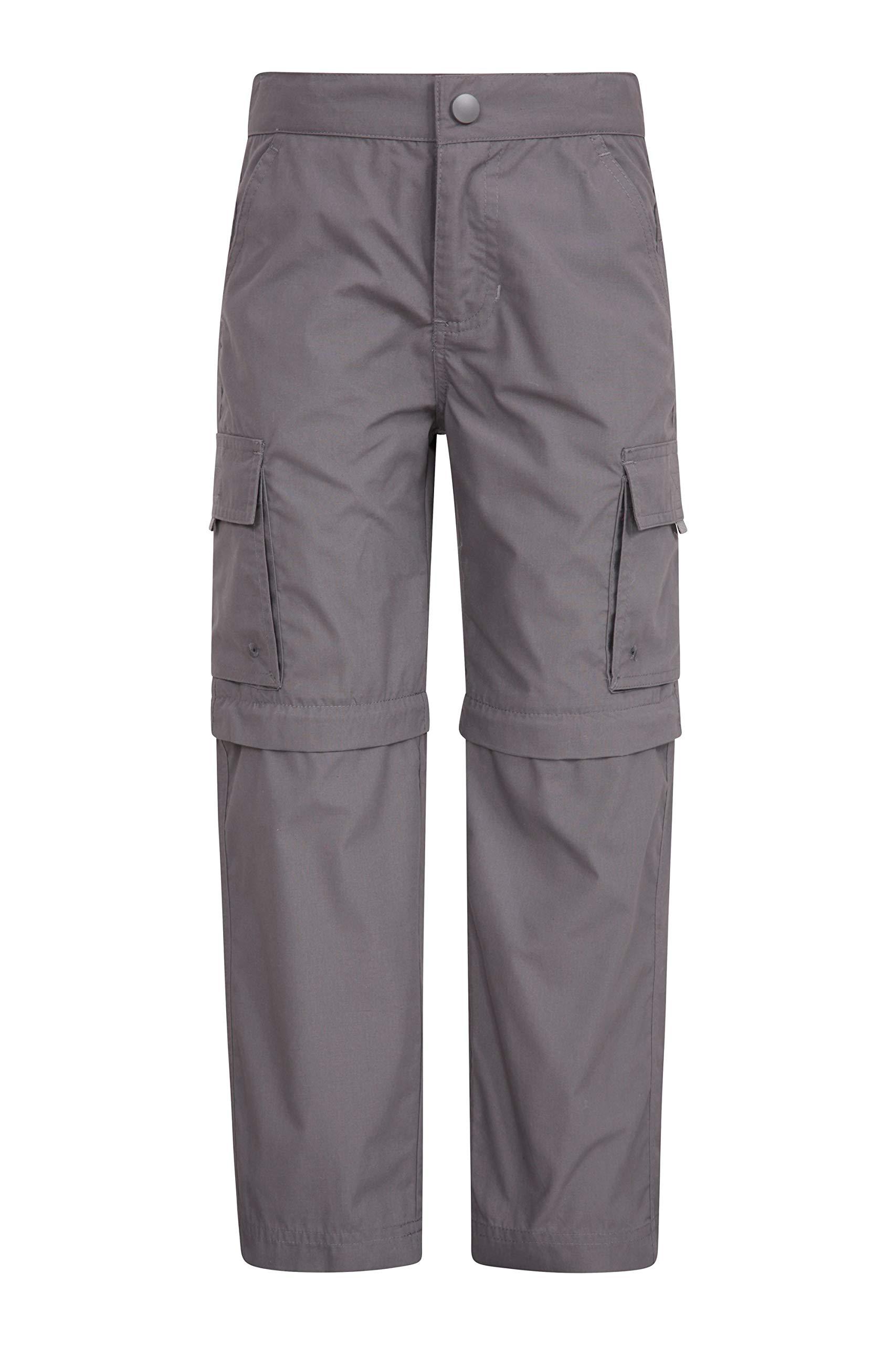 Mountain Warehouse Active Kids Convertible Trousers - Hiking Pants Dark Grey 13 Years