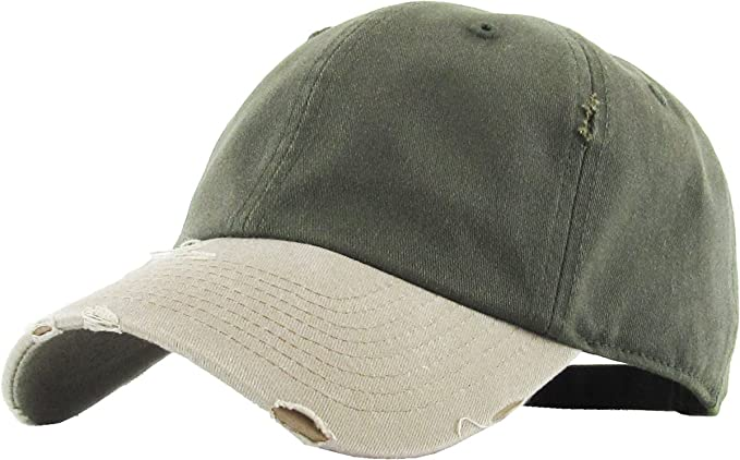 4c62b5d5 Pigment Vintage Distressed Washed Cotton Dad Hat Baseball Cap Polo Style