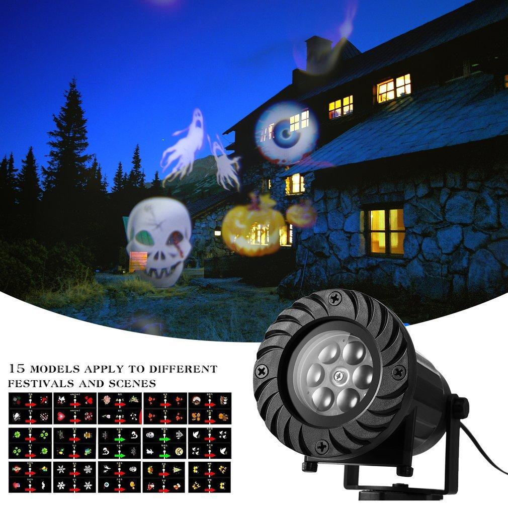 ICOCO Luz Navidad Proyector LED?Lámpara de Proyección Impermeable con Lentes Intercambiables Control