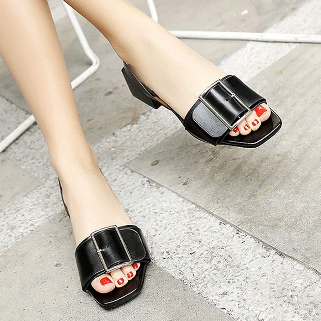 Claystyle Womens Sandal Casual Beach Flat Slides Sandals High Heel Sandals