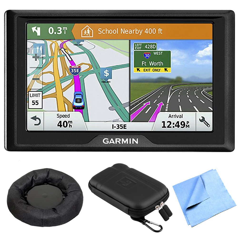 Garmin Drive 51 LM GPS Navigator with Driver Alerts USA Maps with GPS Navigation Dash-Mount, 5 inch Universal GPS Navigation Protect and Stow Case & 1 Piece Micro Fiber Cloth