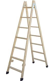 Pintor-escalera de madera 2 x 12 peldaños: Amazon.es: Bricolaje y herramientas