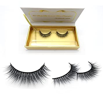d74275c01b9 Amazon.com : All Handmade 3D Natural Soft Korea Synthetic Silk Eyelashes  Short Cross Angel Wing Faux Mink Eyelashes : Beauty