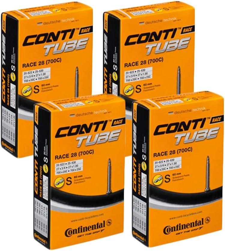 Tubo interno Continental Race 28 700 20 25 de entrenamiento de bicicleta de carretera, válvula Presta 60 mm