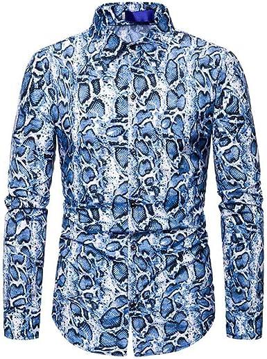 SO-buts Hombre Otoño Invierno Moda Floral Camisa De Manga Larga Casual Solapas Camisas Tops Blusa Ropa: Amazon.es: Ropa y accesorios