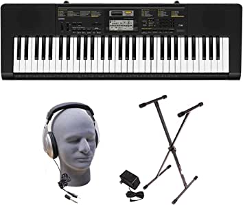 Casio Inc. CTK2400 PPK 61-Key Premium Portable Keyboard Package with Samson HP30 Headphones, Stand and Power Supply