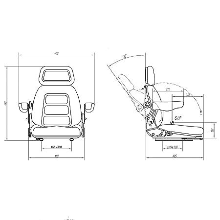 Klaraseats Schleppersitz Hofladersitz S 85 90ar Stoff Schwarz Baby