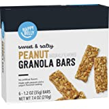Amazon Brand - Happy Belly Sweet & Salty Peanut Granola Bars, 6 Count