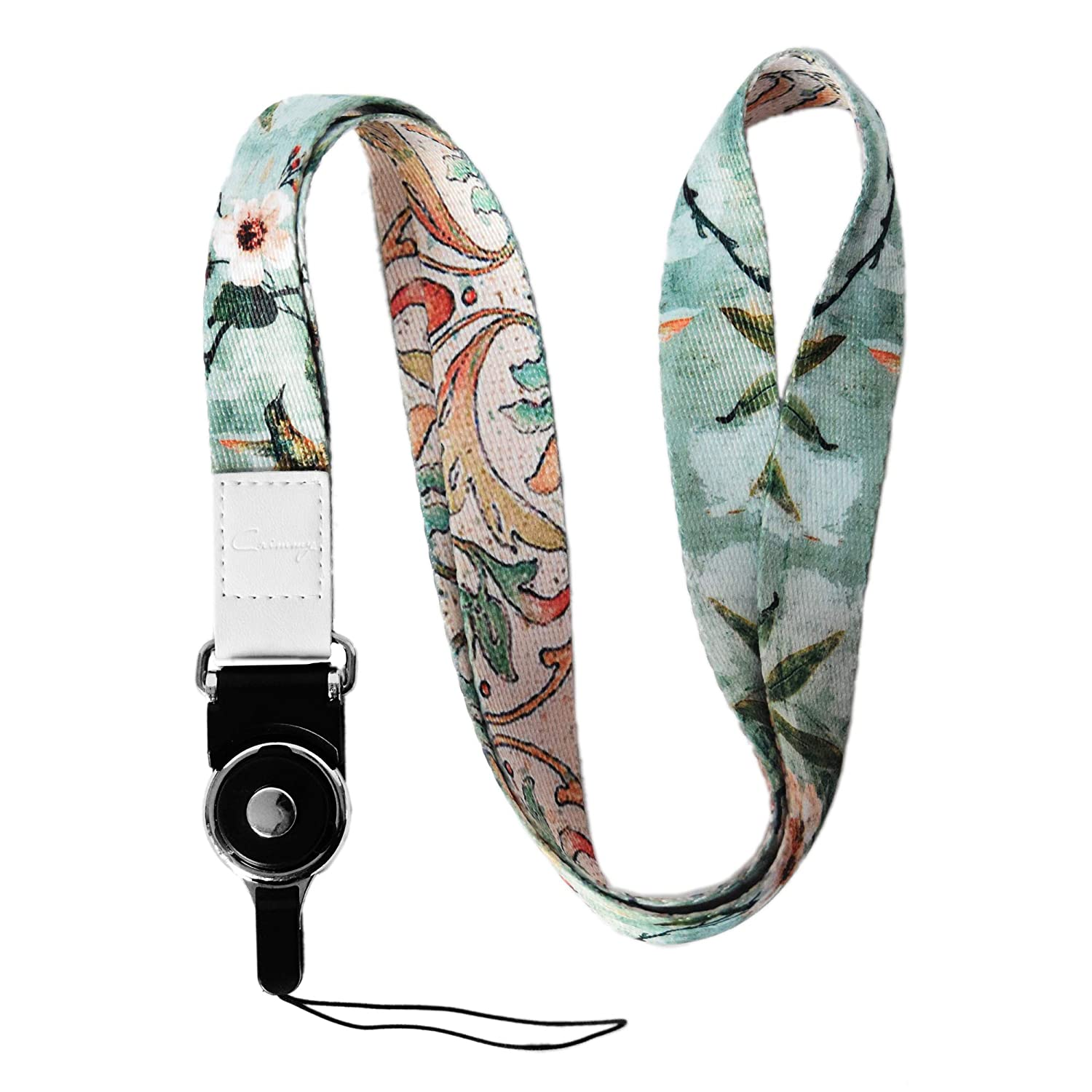 Cell Phone Universal Crimmy Detachable Cell Phone Neck Lanyard Double Sided Neck Strap Band Lanyards for Camera Light Flower Flash Drive iPod USB