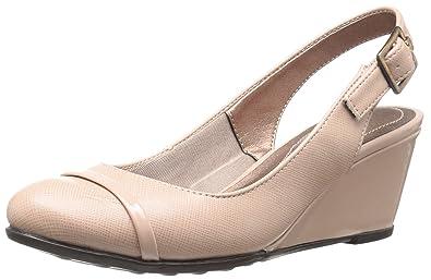 LifeStride Women's, Judge Mid Heel Slingback Pumps Taupe ...