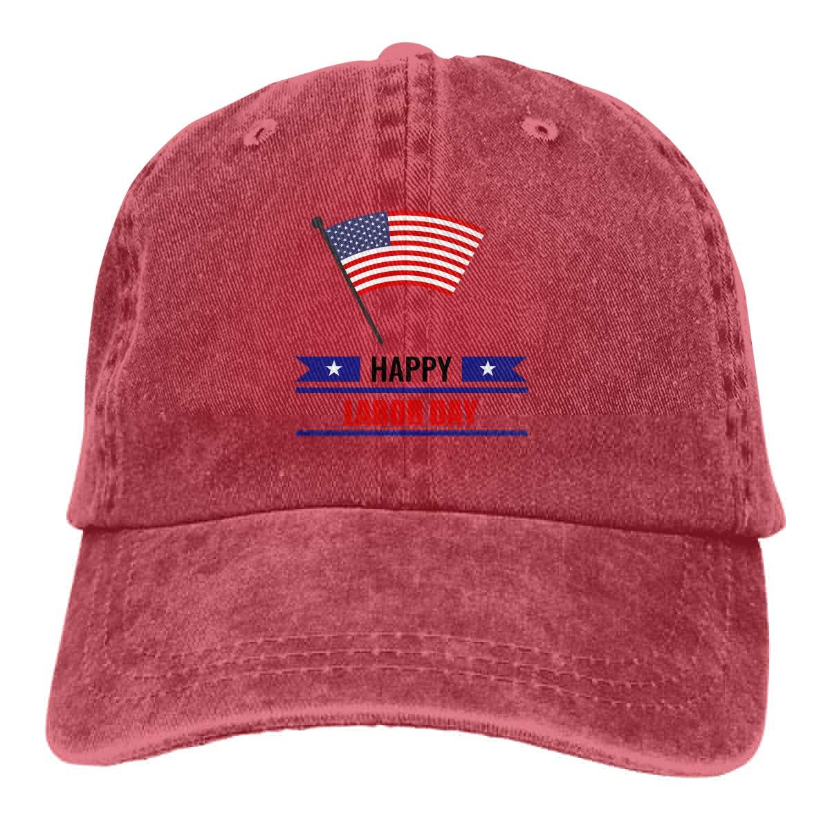 Cotton Hats Amayc Adjustable Mens Denim Baseball Caps Us Flag Happy Labor Day3 Funny