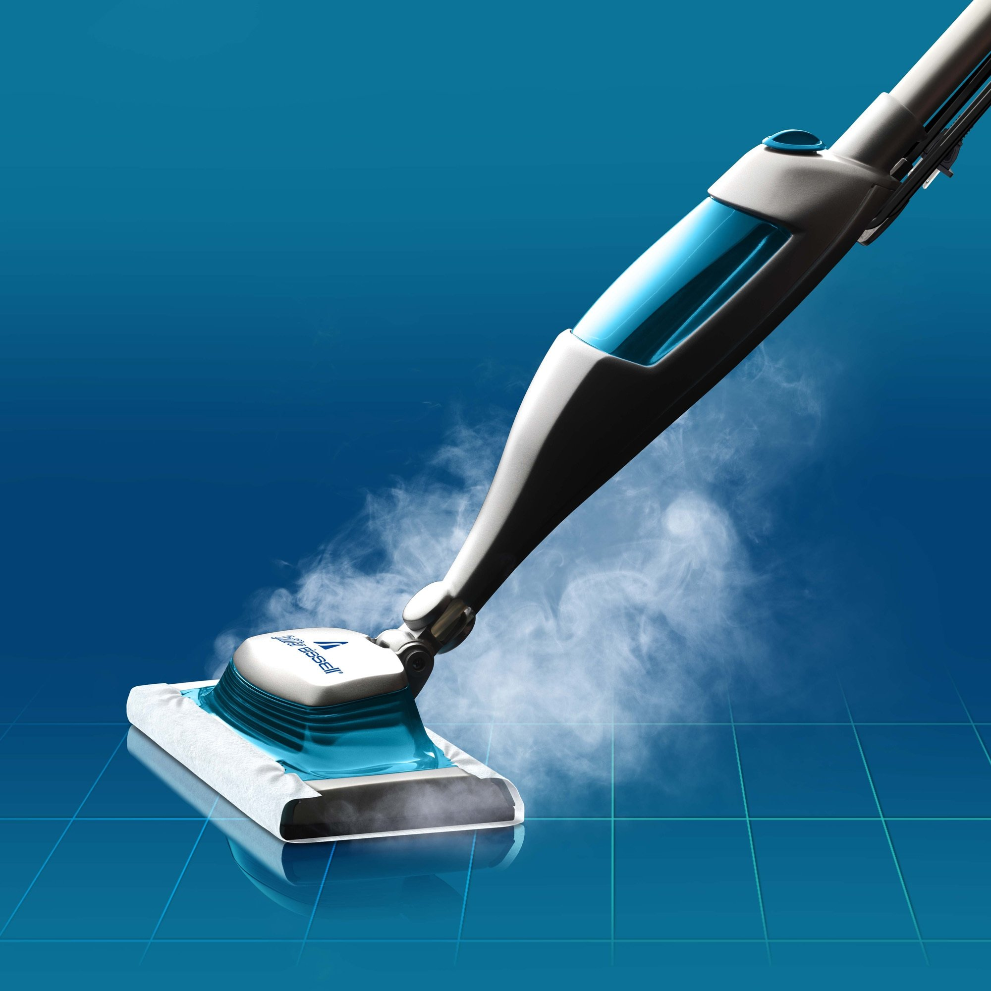 Swiffer SteamBoost Deep Cleaning Steam Mop Starter Kit, Powered by Bissel, Hardwood and Floor Cleaner, Includes: 1 Steam Mop, 2 Steam Mopping Cloth by Swiffer (Image #3)