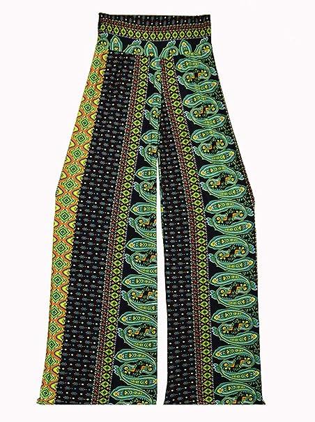 Palazzo Fashion Womens Paisley Print Yoga Pants
