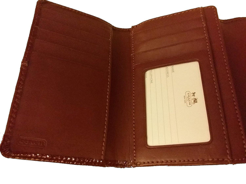 Amazon.com: Coach Ashley Patent piel Medium Compact 48248 ...