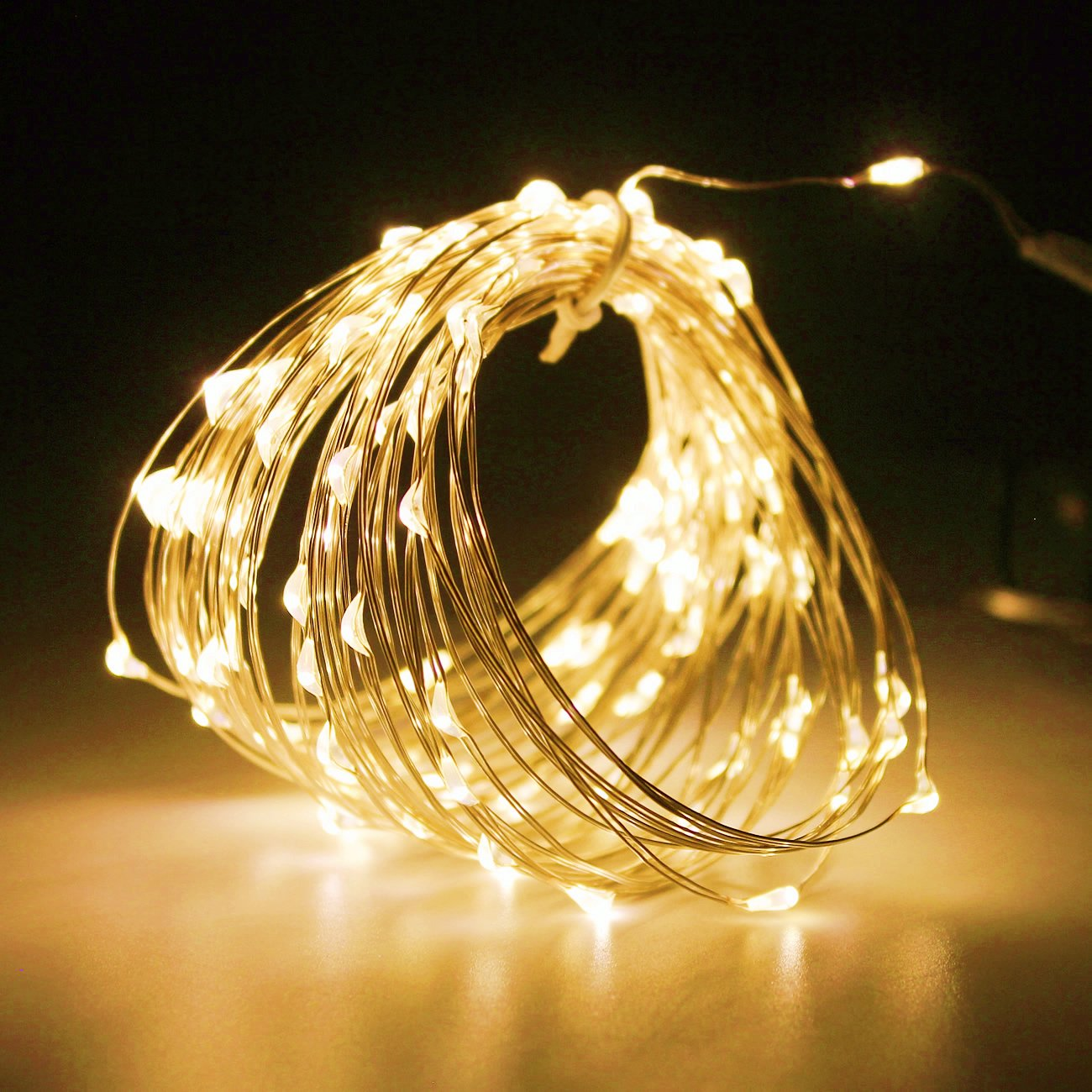 Garden PMS 200 LED 65ft String Lights Fairy Starry Lights Sliver Color Copper Wire Battery Operated Waterproof Outdoor Indoor Decorative for Christmas 200LEDs, Multicolor Party,Wedding PMS LTD