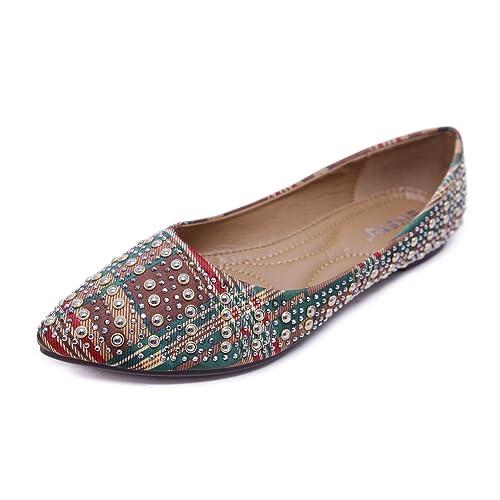 16c2e2c6cf9f Orangetime Ballet Flats Shoes for Women Rhinestone Dress PU Flat Shoes Soft  Walking Shoes Comfort Driving